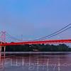Sunrise on the bridge over the River at Puerto Maldonado