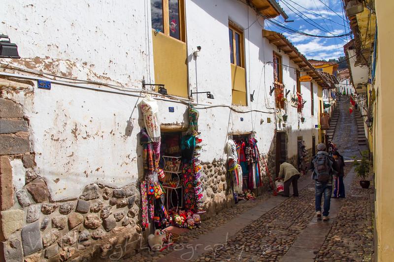 Small back street in Cusco, Peru