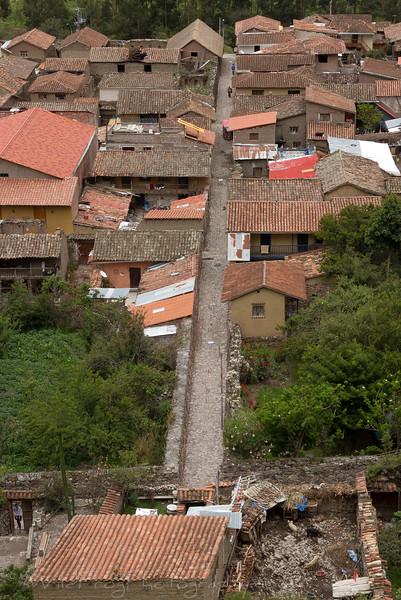 The streets of Ollantaytambo, Peru