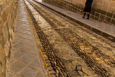 One of the many stone roads in Cusco