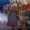 Lady buying Bread at the Cusco Market