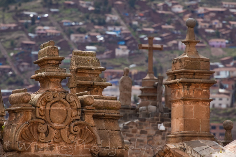 Some of the stone work on the La Catedral in Cusco.
