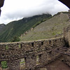 Looking across to the huts and Terraced fields