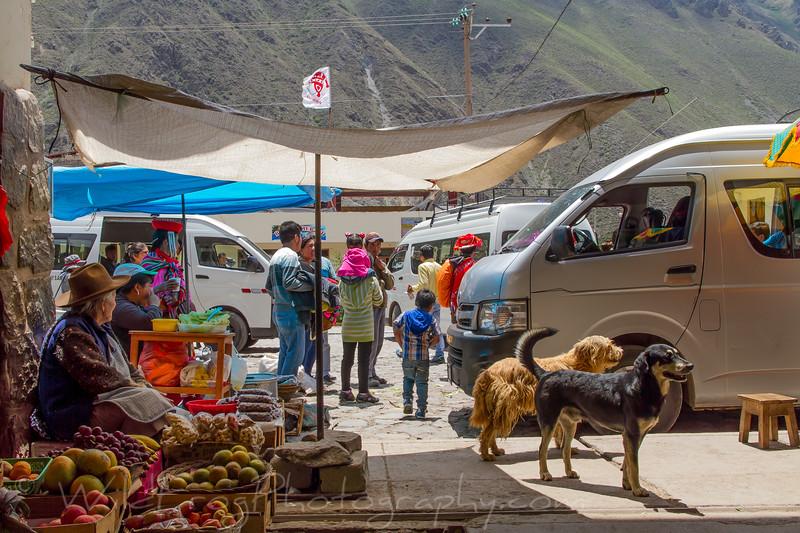 One of the markets in Ollantaytambo, Peru
