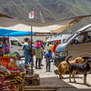 One of the markets in Ollantaytambo, Peru