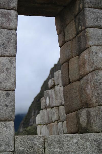 Stone work at Machu Picchu
