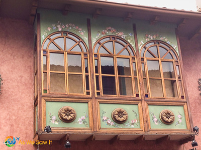 Here the owner enclosed the balcony, but not without capturing the details of others.