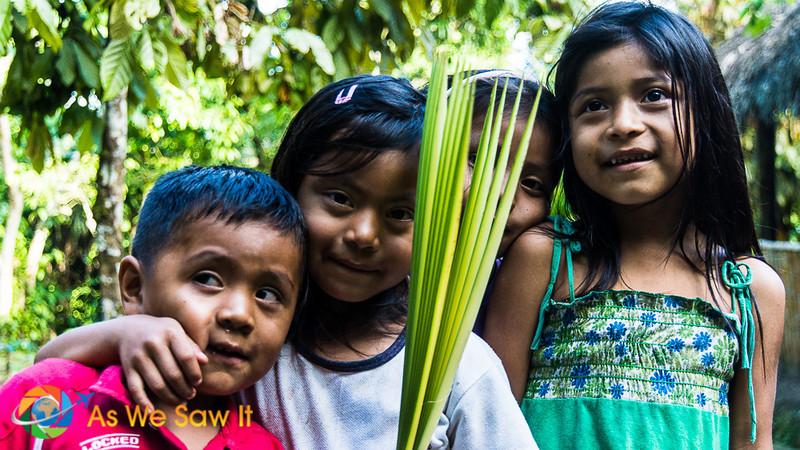 Kichwa children in Ecuador