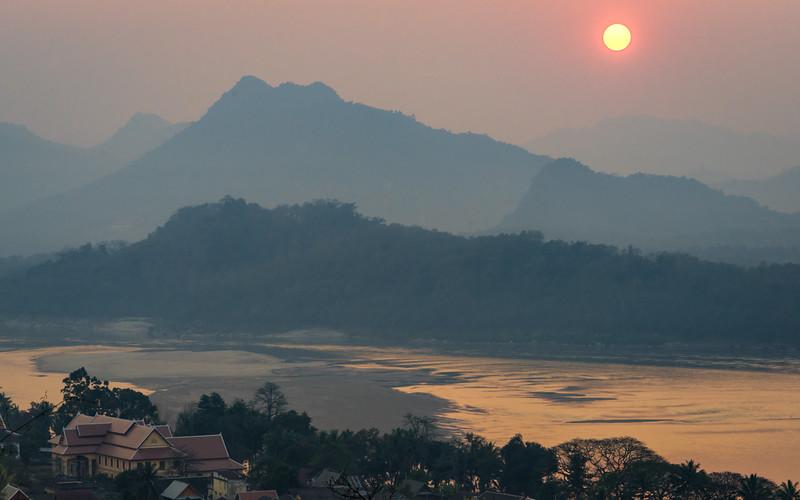 Mt Phousi Sunset