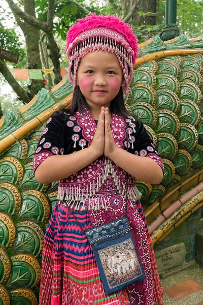 Hill Tribe Girl at Doi Suthep