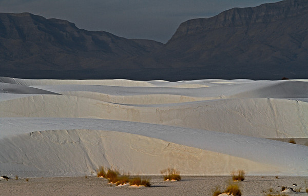 White Sands National Monument, New Mexico, composed of gypsum and calcium sulfate, #0254