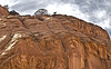 Goat atop a cliff at Canyon de Chelly National Monument, Arizona, #0267