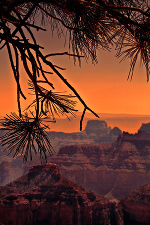 Sunset at Grand Canyon National Park, north rim, #0549