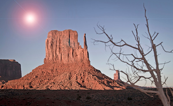 The West Mitten at Monument Valley, Navajo National Park, #0277