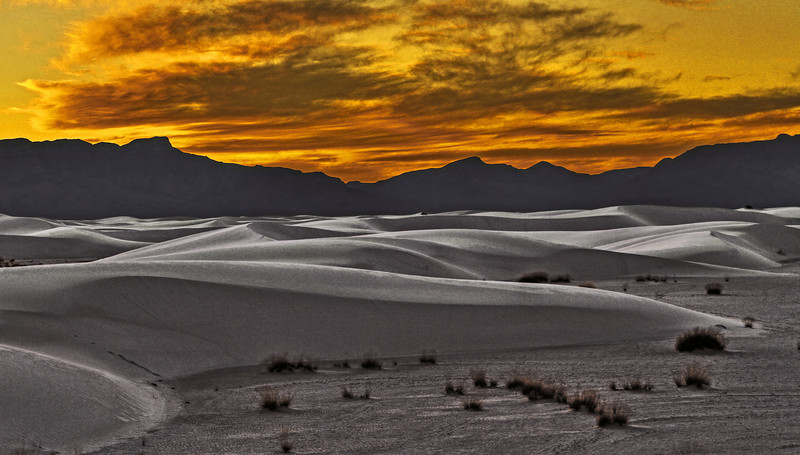 White Sands National Monument, New Mexico, composed of gypsum and calcium sulfate, #0257