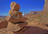Monument Valley Navajo Tribal Park reservation in Utah, site of many western movies along a 17 mile road, #0281