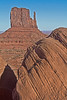 Monument Valley Navajo Tribal Park reservation in Utah, site of many western movies along a 17 mile road, #0275