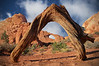Arches National Park, Skyline Arch with tree arch in foreground , #0499