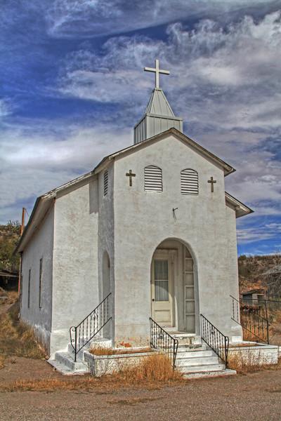 Gold mining town church, Arizona, #0258