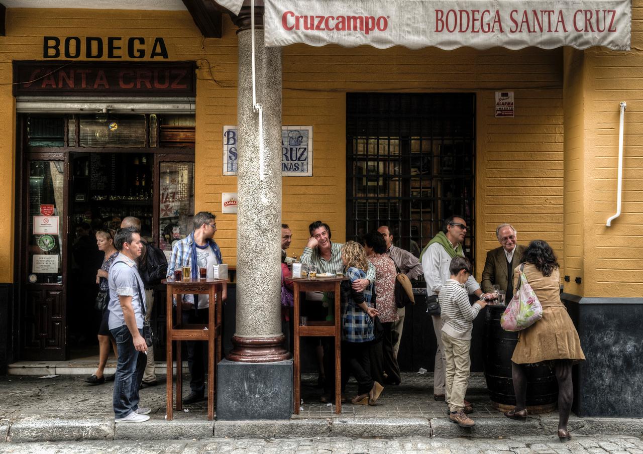 Bar in the Barrio Santa Cruz in Sevilla.<br /> <br /> Spain,  Andalucia, 2011.