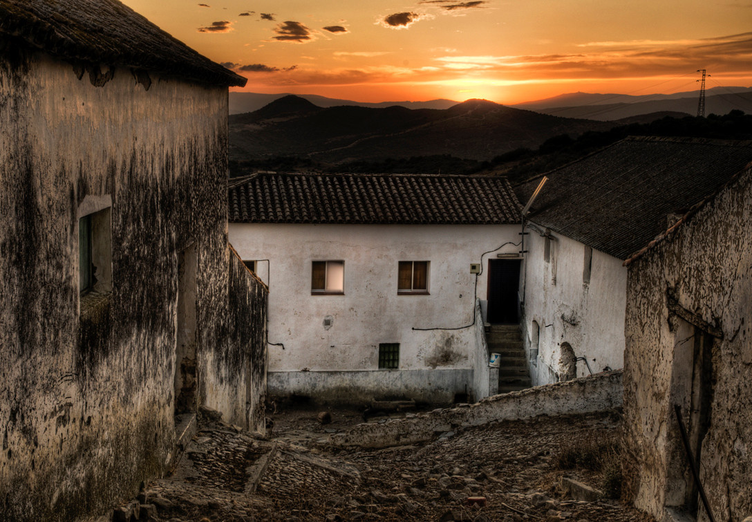 Farm near the small village of Casares.<br /> <br /> Andalucia, Spain.