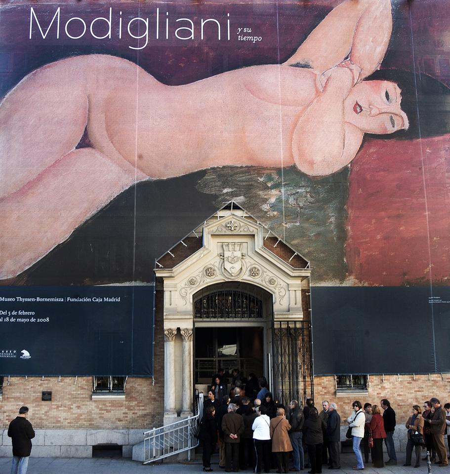 Modigliani exhibition.<br /> <br /> Malaga, Andalucia, Spain.