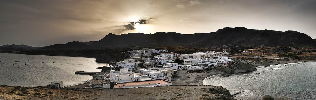 The fishing village of La Isleta del Moro in Cabo de Gata.<br /> <br /> Almeria, Spain, 2012.