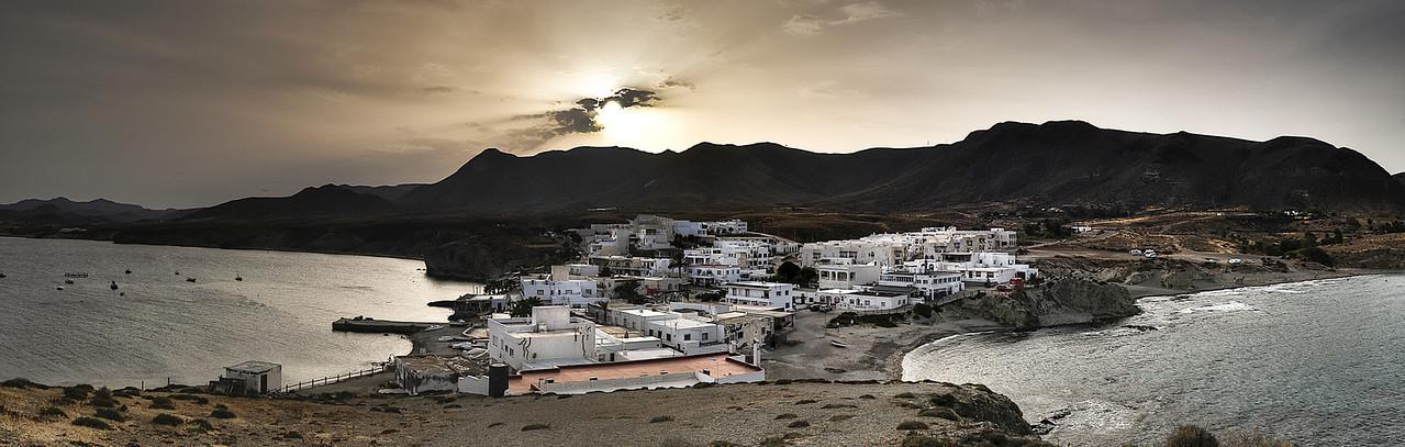 The fishing village of La Isleta del Moro in Cabo de Gata.<br /> <br /> Almeria, Spain, 2012.
