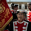 """In most cases, during the Spanish Easter celebrations the """"pasos"""" are accompanied by Marching bands performing """"Marchas procesionales"""" a specific type of compositions, devoted to the images and fraternities.<br /> <br /> Arcos de la frontera, Andalucia, Spain, 2014"""