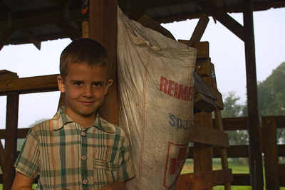 Little menonite boy in Spanish Lookout, Cayo, Belize.