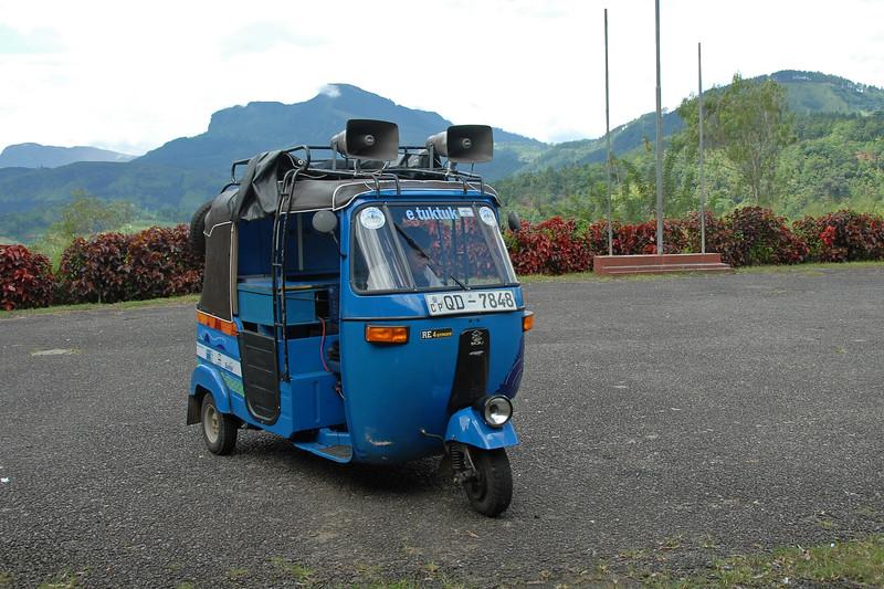 eTukTuk at Kothmale Radio Station, Sri Lanka.