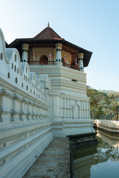 Sri Dalada Maligawa (Temple of the Sacred Tooth Relic) Complex in the city of Kandy, Sri Lanka. It is located in the royal palace complex of the former Kingdom of Kandy, which houses the relic of the tooth of the Buddha.