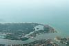 Ariel view of Colombo city on departure from Bandaranaike International Airport, Colombo, Sri Lanka.