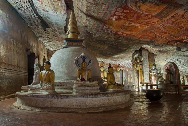 Dambulla Cave Temple, Kandy - Jaffna Hwy, Dambulla, Sri Lanka<br /> Dambulla cave temple also known as the Golden Temple of Dambulla is a UNESCO World Heritage Site, East of Colombo in Central Sri Lanka.