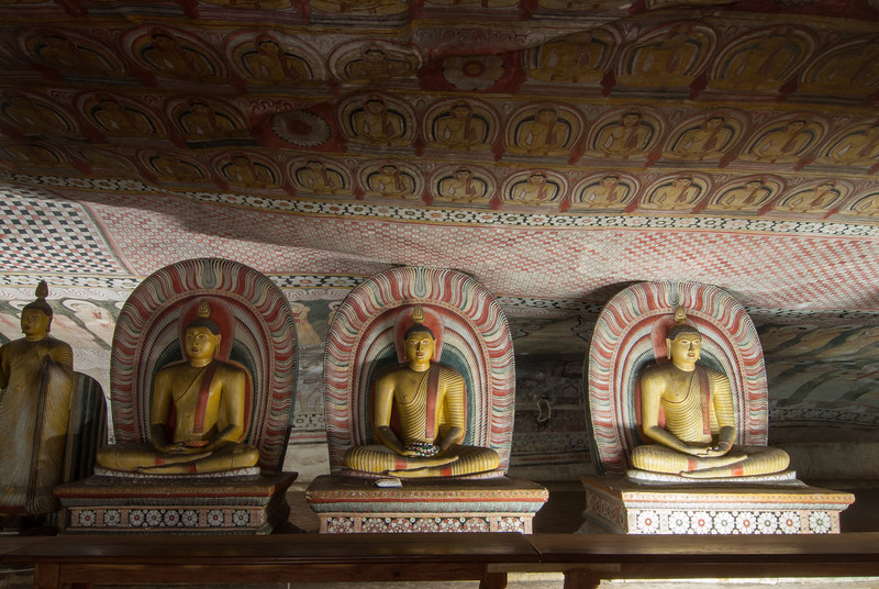 Dambulla Cave Temple, Kandy - Jaffna Hwy, Dambulla, Sri Lanka<br /> Dambulla cave temple also known as the Golden Temple of Dambulla is a UNESCO World Heritage Site, East of Colombo in Central Sri Lanka.