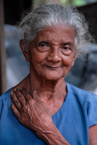 Old lady in Sri Lanka
