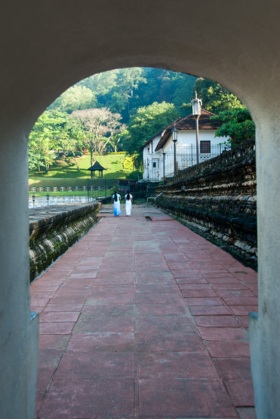 Passage at the Sri Dalada Maligawa (Temple of the Sacred Tooth Relic) which is a Buddhist temple in the city of Kandy, Sri Lanka. It is located in the royal palace complex of the former Kingdom of Kandy, which houses the relic of the tooth of the Buddha.