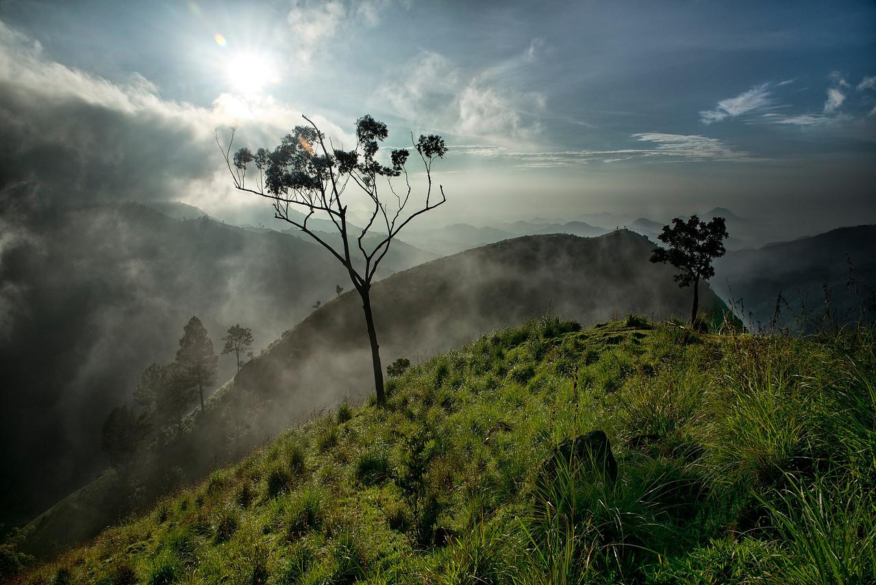 View from the top of Little Adams Peak.<br /> <br /> Ella, Sri Lanka, 2014.