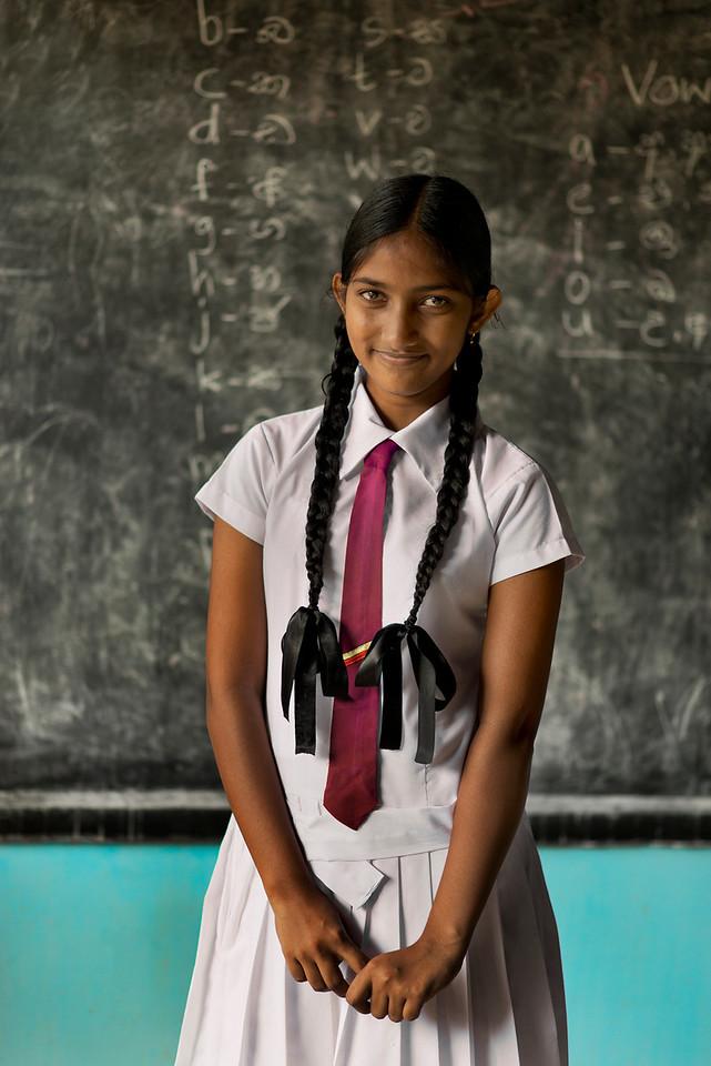 Sri Lankan school girl.
