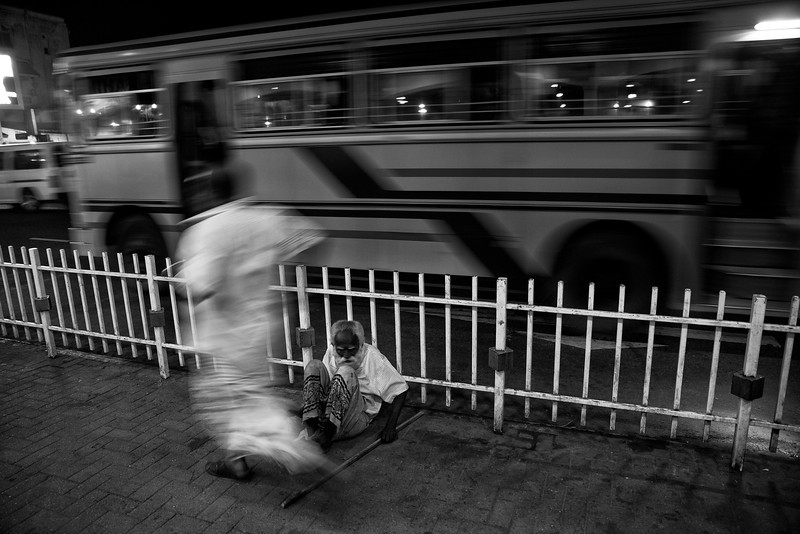 Homeless person in the streets of Kandy.<br /> <br /> Sri Lanka, 2014.