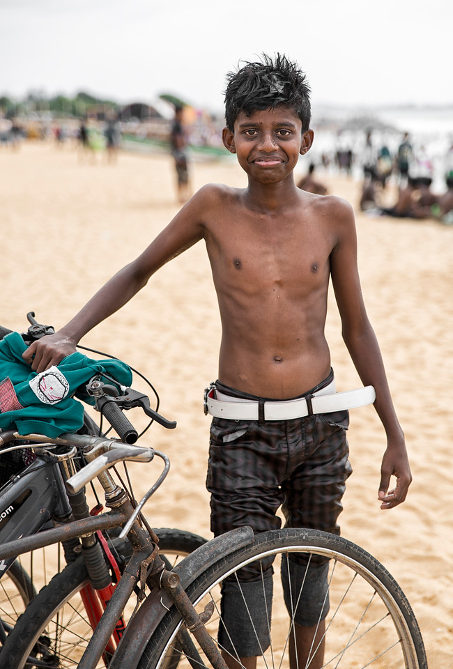 Although Negombo beach is not the paradise beach people expect to see in Sri Lanka, it's actually an ideal place to see the locals enjoying themselves on week ends.<br />  <br /> Negombo, Sri Lanka, 2014