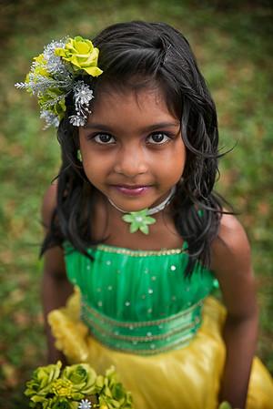 Young Sri Lankan bridesmaid.