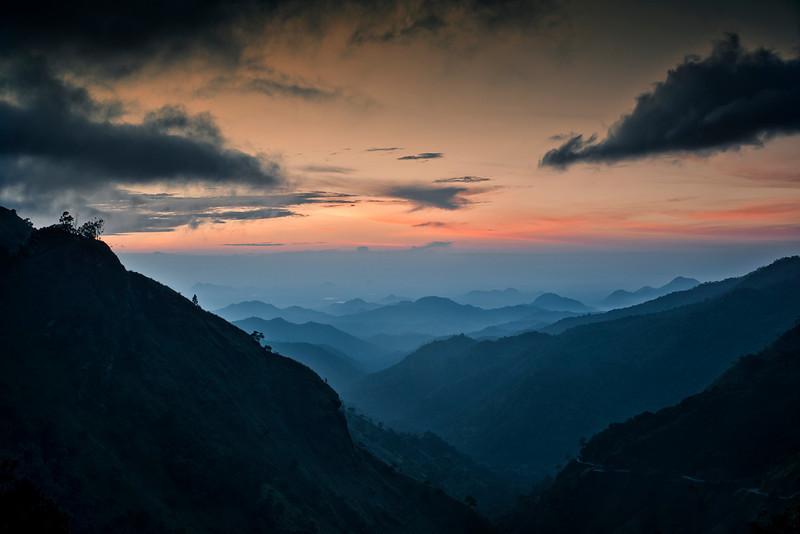 View of Ella Gap from the top of Ella town.<br /> <br /> Ella, Sri Lanka, 2014.