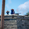 The cannon firing demonstration at the Castillo de San Marcos