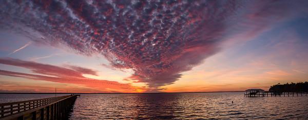 Shands Pier Sunset Jan 8, 2019