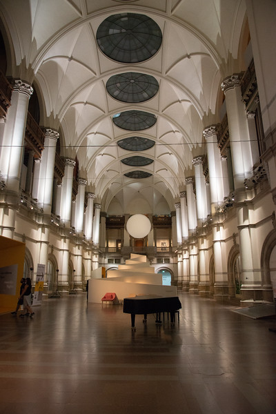 Inside of Nordiska museet, museum charting Swedish cultural history. Located at Djurgårdsvägen, Stockholm, Sweden.