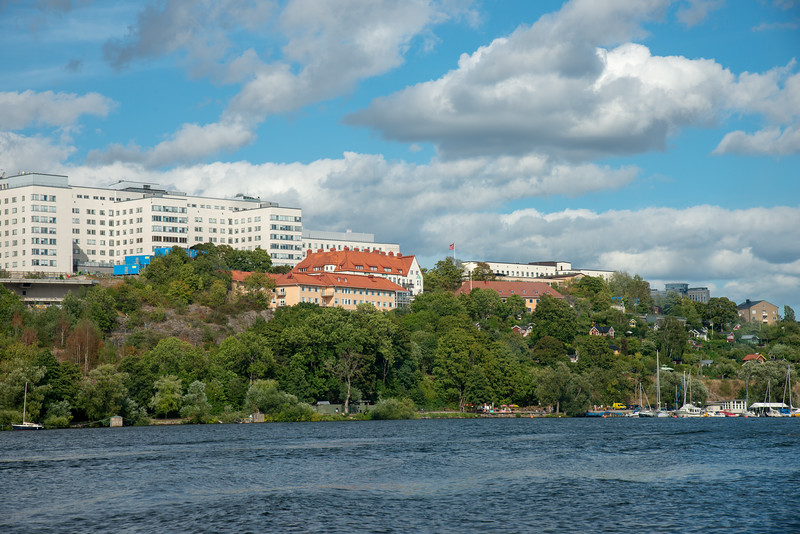 Royal Canal Tour of Stockholm on a ferry which is included in the Stockholm Pass.