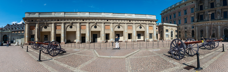 Kungliga slottet, The Royal Palace. Baroque-style royal palace with 3 museums & a vast library. Stockholm, Sweden.
