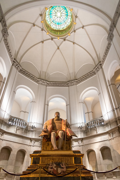 Nordic Museum, Stockholm. The magnificent building has a life-size 1940s apartment and a monumental oak statue of Gustav Vasa, king of Sweden in 1523–1560.