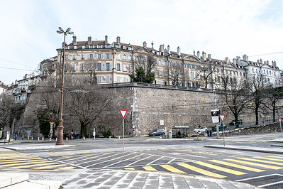 Last remaining fortification wall in Geneva